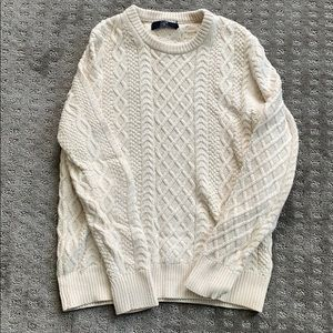 Men's J Crew S cable knit sweater. Like new